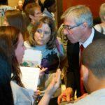 Tartan High School SADD students meet with Rep. Bob Dettmer.