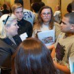 Tartan High School students meet with Rep. Fenton.