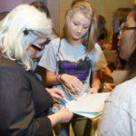 Tartan High School SADD students meet with Rep. Kelly Fenton.