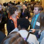 Tartan High School students meet with Rep. Ward.