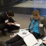 Tartan High School students preparing to meet with their legislators.