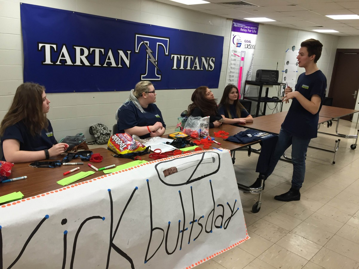 Students at Tartan High School educate their peers on the harms of tobacco.