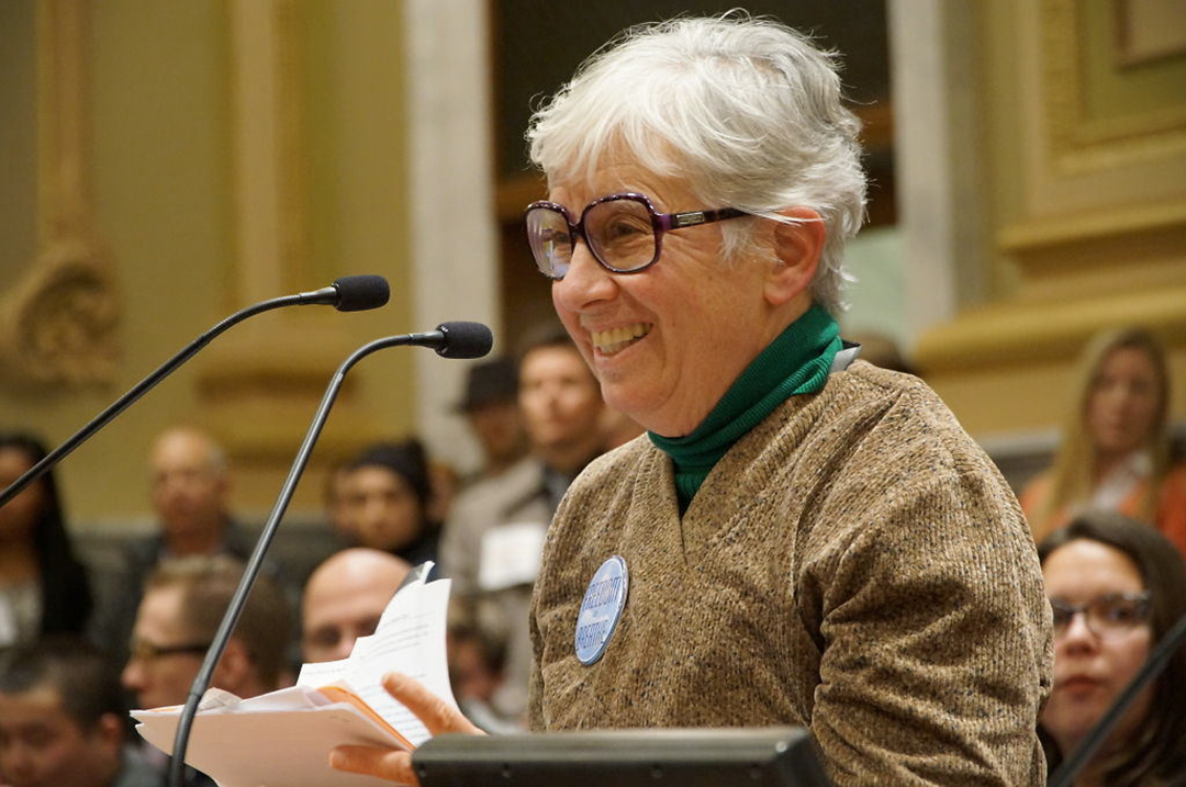 Minneapolis Rep. Phyllis Kahn urges the Minneapolis City Council to support the ordinance.