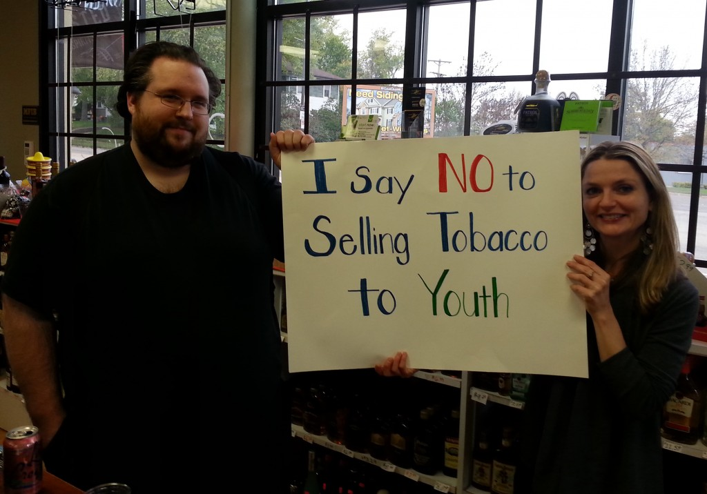 Vendors who went through training express their commitment to not selling tobacco to underage youth.
