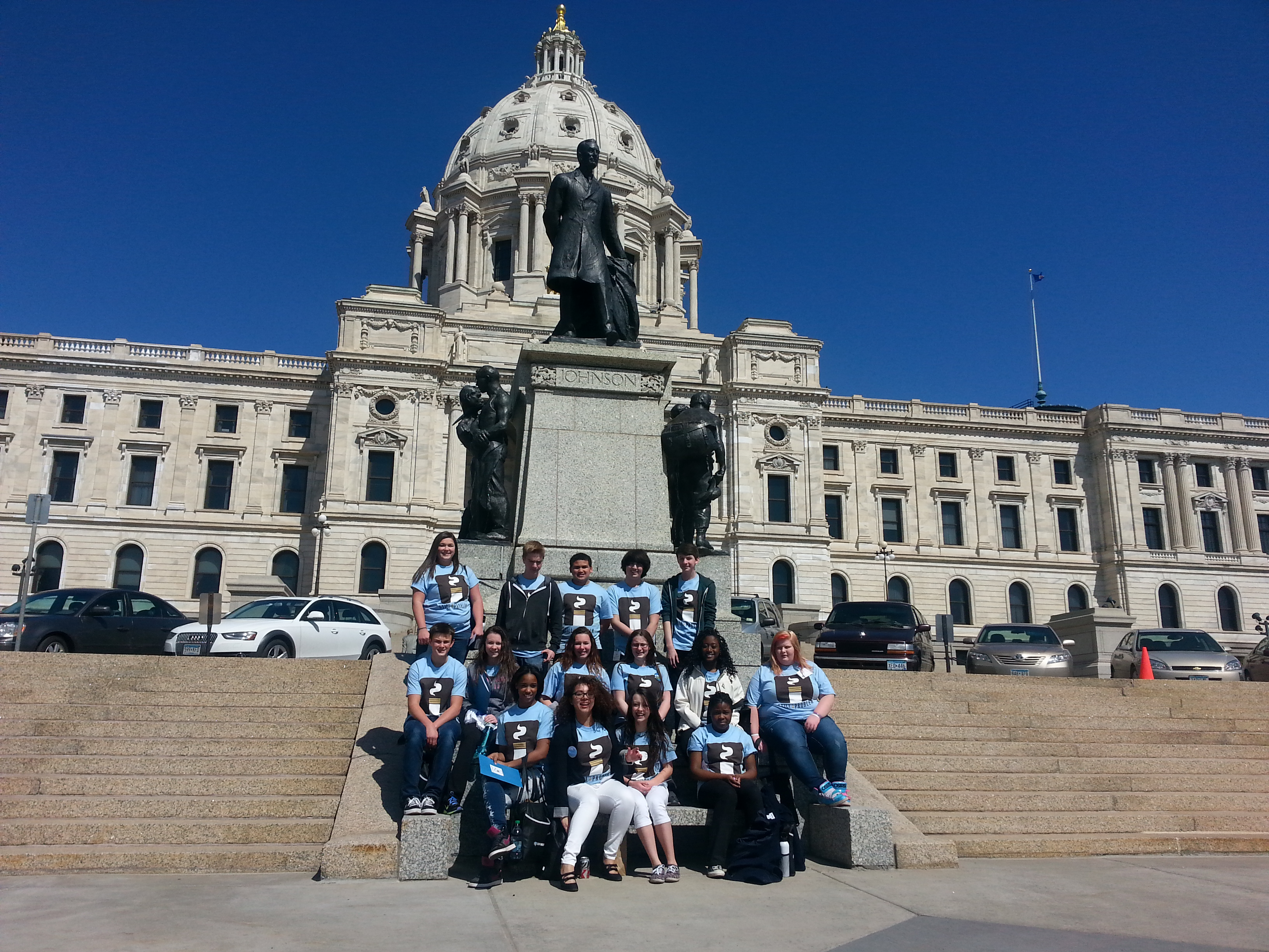 Students from Tartan High's SADD group visited the Capitol and spoke to state legislators about the harms of tobacco.